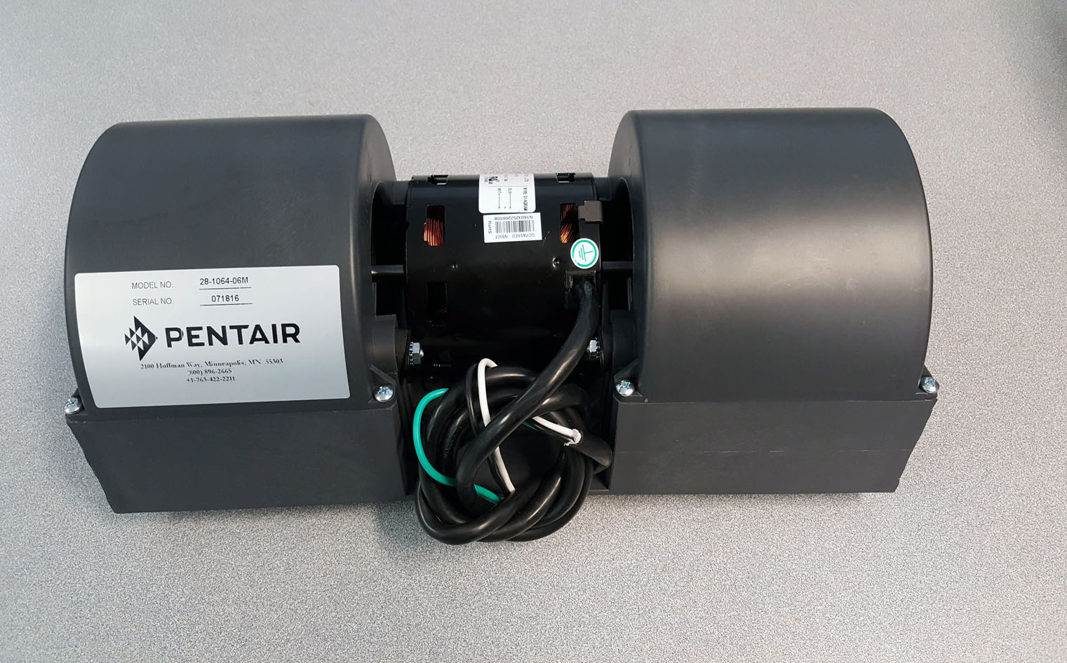 Pentair, Hoffman, McLean 28106406M Blower Assembly, 115 Volt