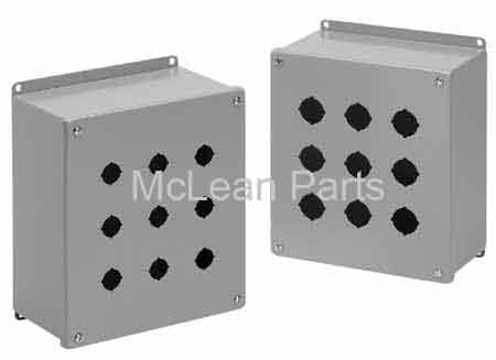Hoffman E1PBX 1 Pushbutton Enclosure, Extra-Deep 4.00x4.00x4.75